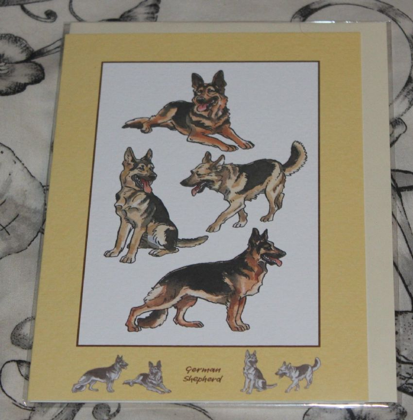 Shepherd greetings card with pictures of the breed german shepherd greetings card with pictures of the breed m4hsunfo